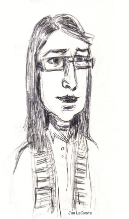 caricature Amy Jan LeComte