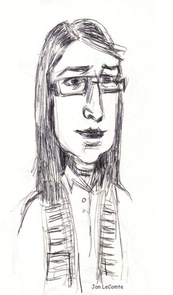 caricature Amy Jan LeComte