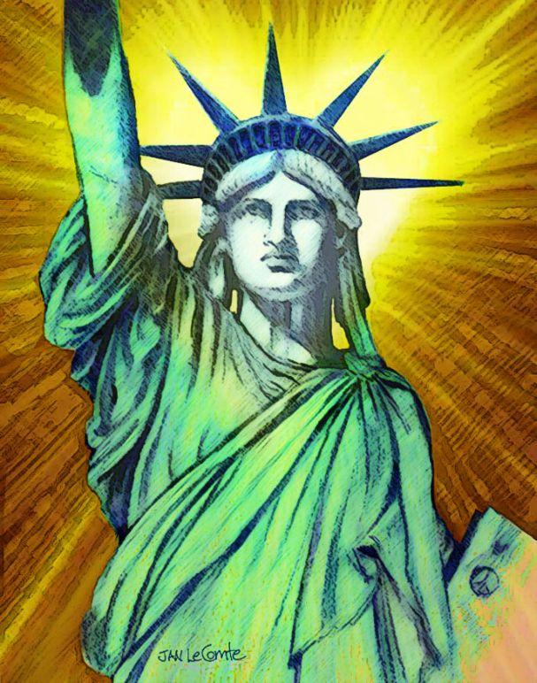 Statue Liberty Jan LeComte heart4